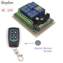 Sleeplion 24 V 4CH Interruptor de Controle Remoto 315/433 MHz Interruptor de Controle Remoto 24 V Receptor 4CH Transmissor À Prova D' Água Placa do módulo