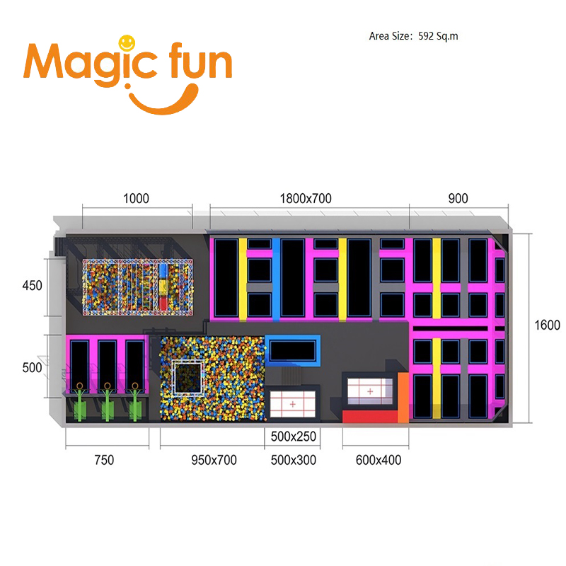 MAGICFUN indoor inflatable trampoline with foam pit and trampoline manufacturer