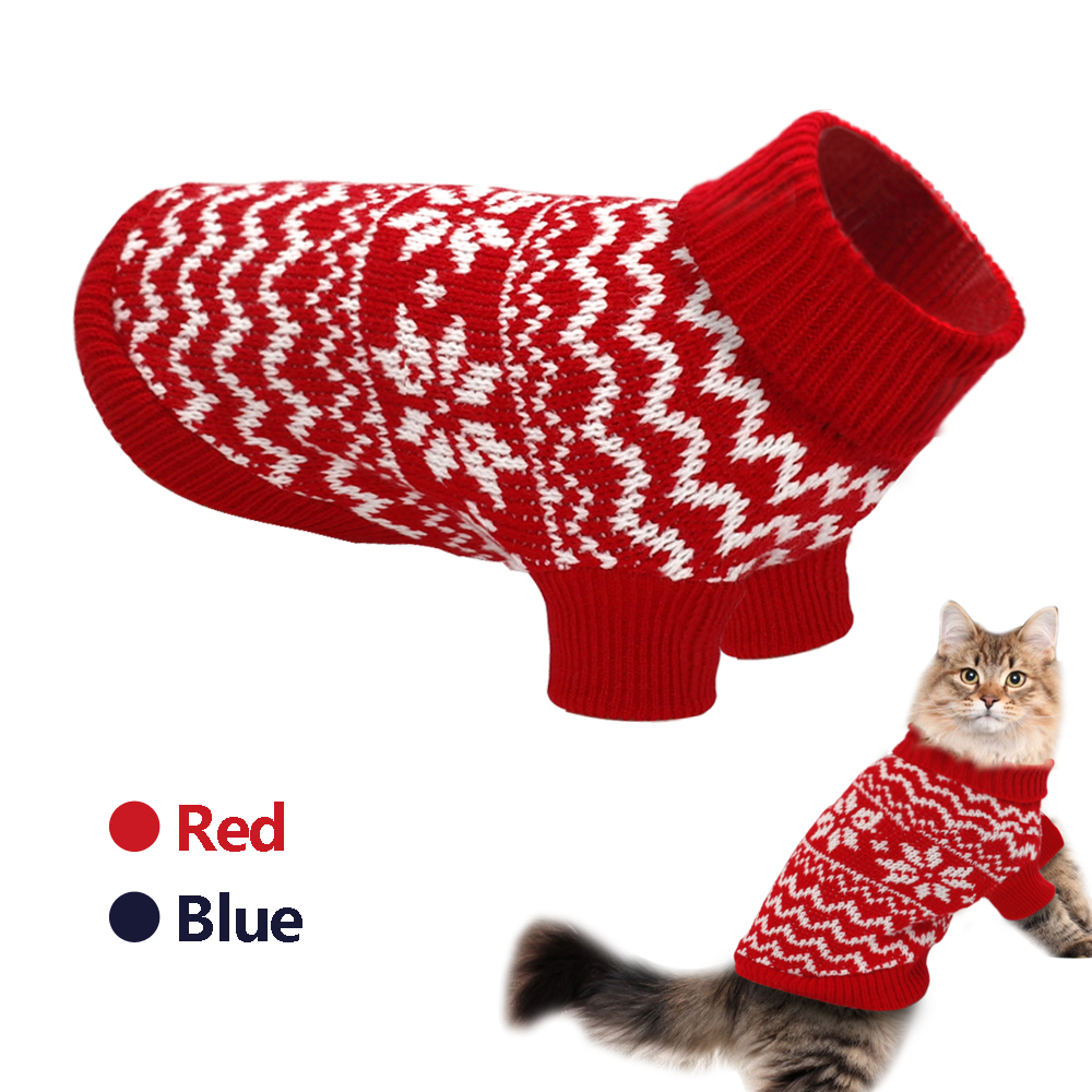 Pet Cat Puppy Sweater Winter Cat Clothes For Small Medium Dogs Turtleneck Knitwear Chihuahua Clothing Dog Cat Costume Ropa Perro