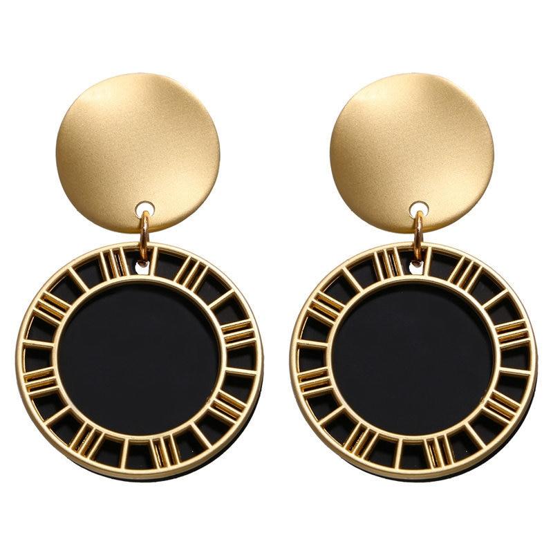 Vintage Earrings 2019 Geometric Shell Earrings For Women Girls BOHO Resin Drop Earrings Brincos Fashion Tortoise Jewelry 28