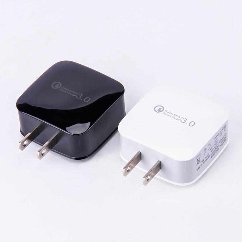 18W Quick Charge 3.0 EU / US 5V 3A Smart Travel USB Charger Adapter - Reservdelar och tillbehör för mobiltelefoner - Foto 2