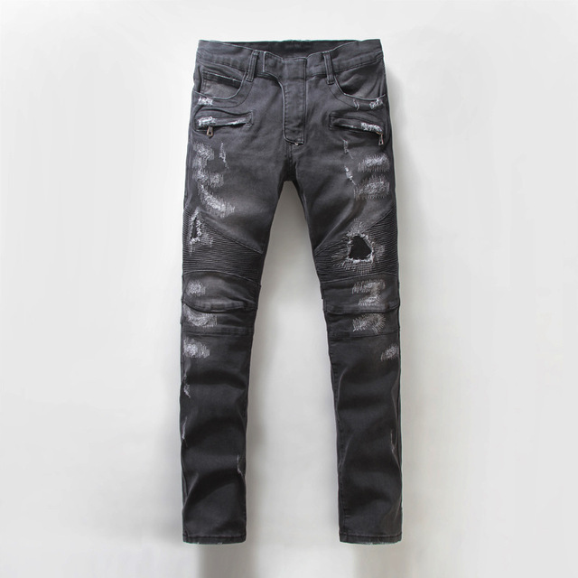 Ripped Bootcut Jeans For Men   Bbg Clothing