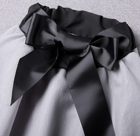 New-Spring-Summer-Women-s-Skirt-Suits-Elegant-Ladies-Black-Blouse-And-Pleated-SkirtWith-Bows-Clothing (4)