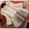 New Design 2016 Fashion Winter Women Artificial  Fur Coat Luxury Medium Long Fake Fur Coats Mujer Female Plus Size