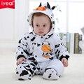 Девушка новорожденный мальчик зимней одежды ребенка комбинезон спецодежды для детей Roupa Bebes корова детские костюмы одежда