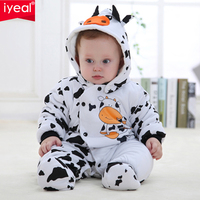 IYEAL Newborn Baby Girl Boy Winter Clothes Baby Rompers Cotton Overalls For Kids Roupa Bebes Cow Baby Costume Clothing