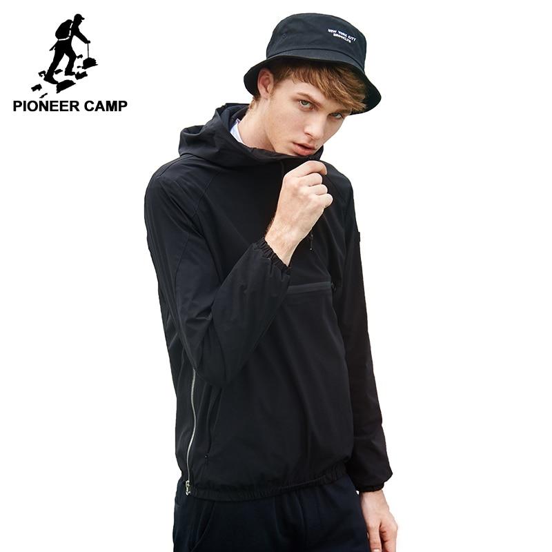 Пионерский лагерь новая весна-осень куртка с капюшоном брендовая мужская одежда повседневная куртка пальто мужская качественная стрейч ве...