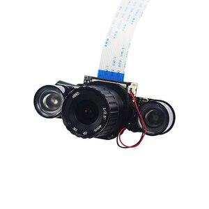 Image 3 - פטל Pi 4 IR CUT מצלמה 4mm 6mm 8mm מתכוונן מוקד ראיית לילה מצלמה מצלמת + 2 IR אורות עבור פטל Pi 4B/3B +/3B