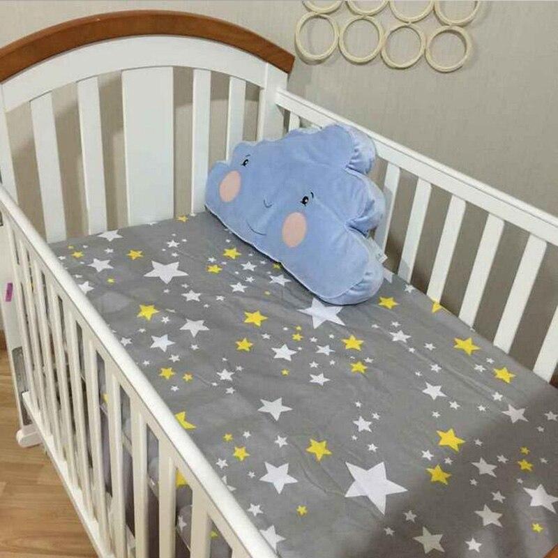 Baby <font><b>Crib</b></font> Fitted Sheet 100% Cotton Infant Bed Mattress Cover Baby <font><b>Bedding</b></font> Set Cartoon Toddler Girls Boys <font><b>Bedding</b></font> Size 130*70cm