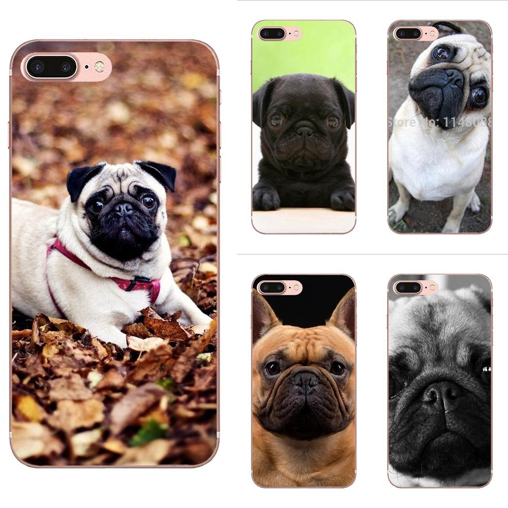 Toy Dog <font><b>Pug</b></font> Cute For <font><b>Xiaomi</b></font> Redmi Note 2 3 3S 4 4A 4X 5 5A 6 6A Pro Plus Soft Phone <font><b>Cover</b></font> Case Capa image