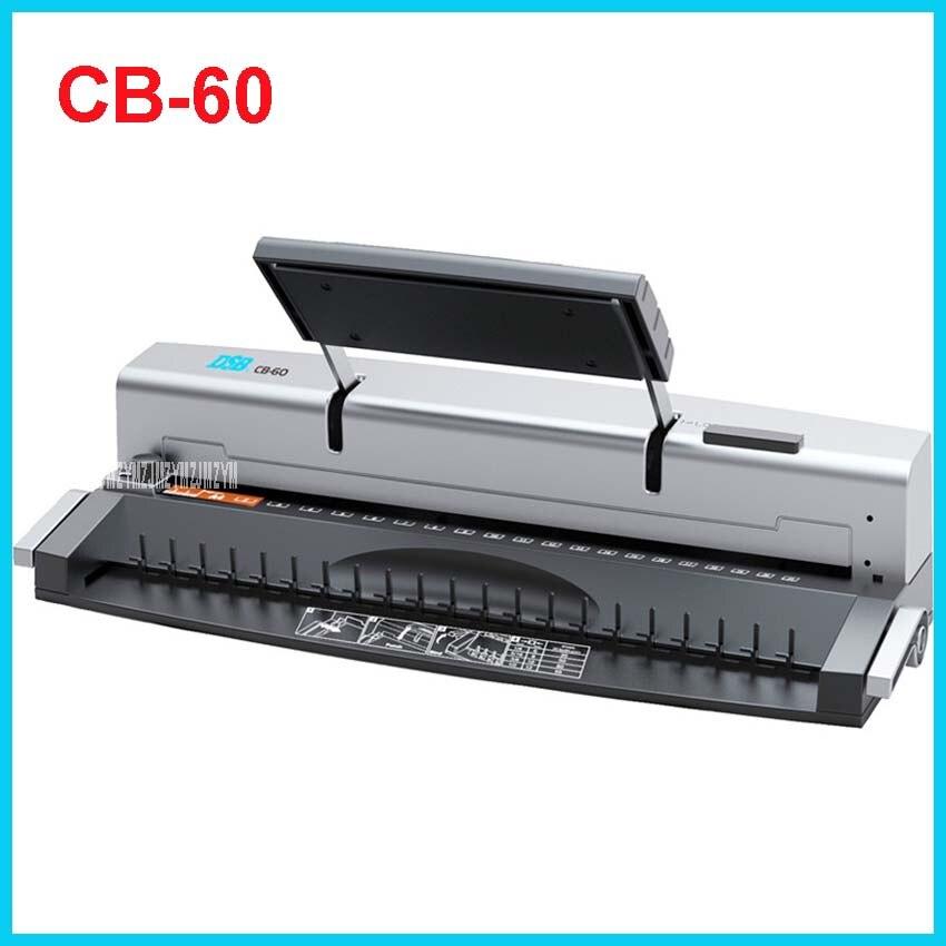 все цены на  Mini Comb Binding Machine CB-60 Manual A4 Binds 95 Sheets Punches 8 Sheets Office 21 holes / 19 holes  12mm (95 sheets) Binding  онлайн