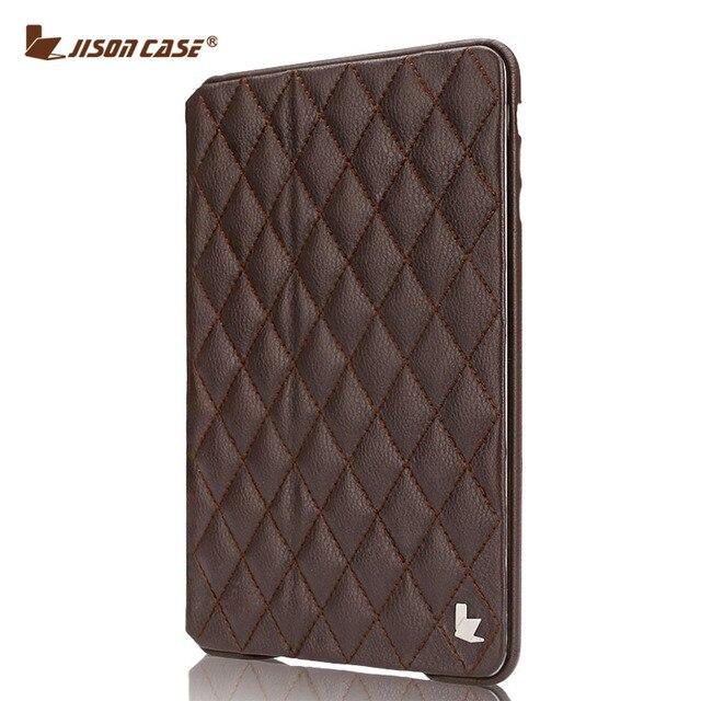 Jisoncase Мода Флип Smart Case Для iPad mini 2 3 Tablet магнитный Luxury Искусственная Кожа Стенд Case для iPad mini 2 3 крышка