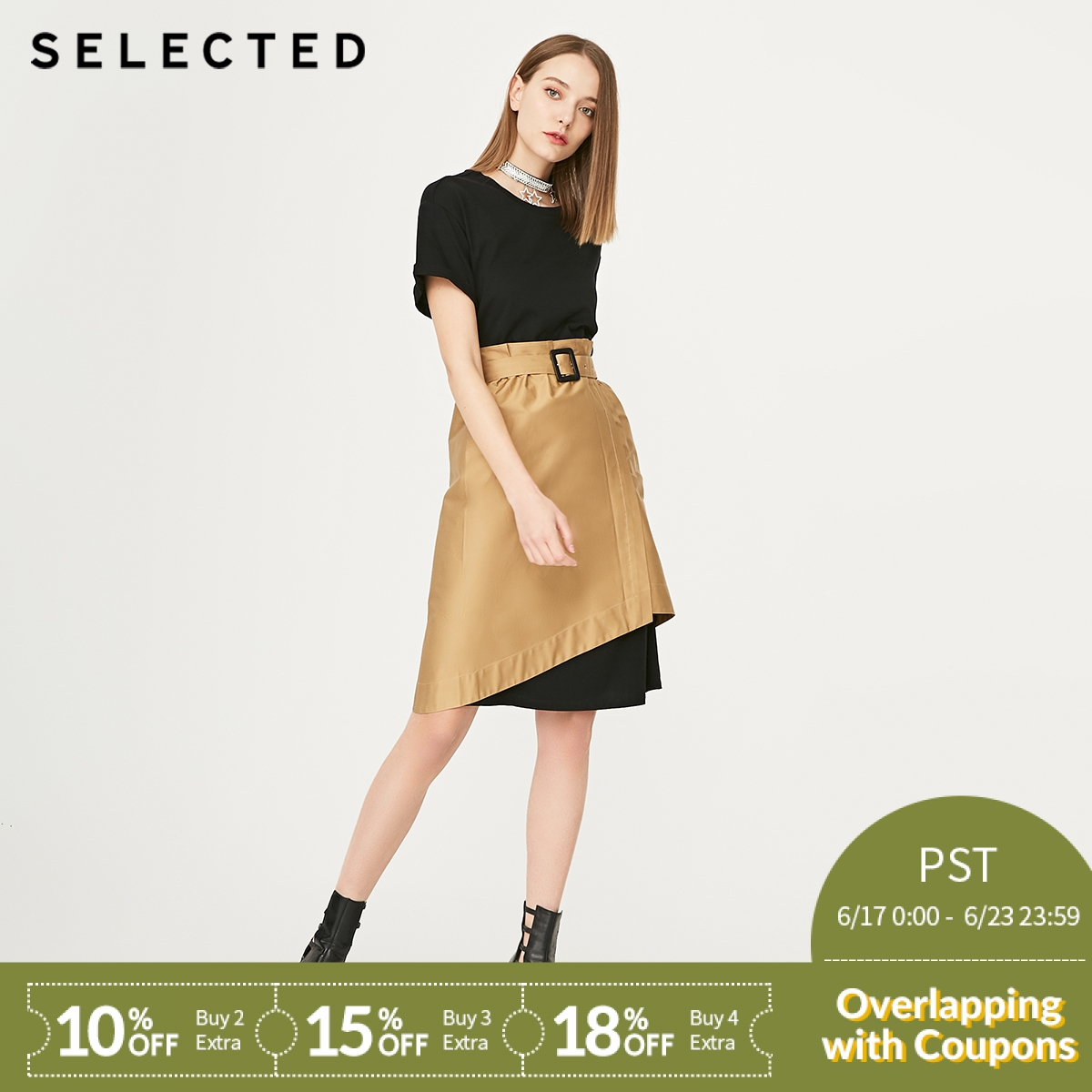 SELECTED Summer Two piece T shirt Midi Dress S|419261502