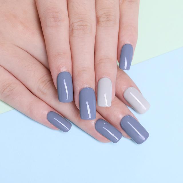 LILYCUTE  Grey Nail Art Design