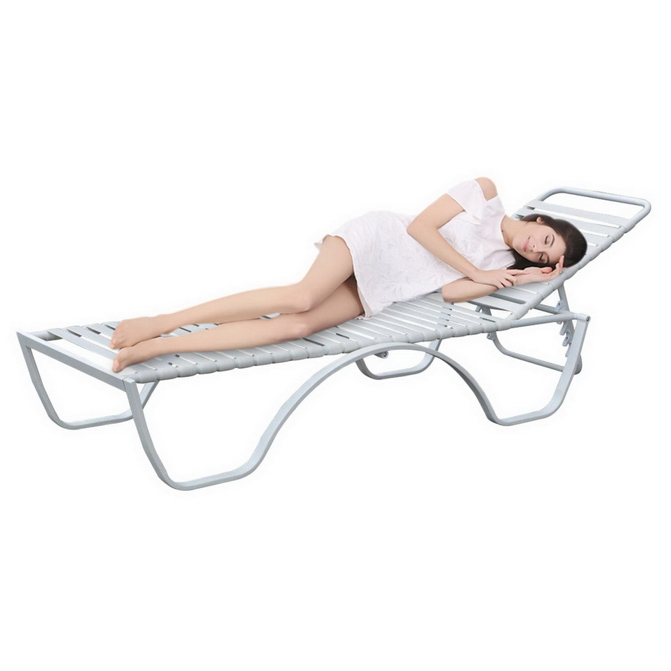 White Outdoor Lounge Chair Us 109 2 40 Off Homdox Adjustment Steel Frame Plate And Strip Lounge Chair Outdoor Garden Patio Chair White In Sun Loungers From Furniture On