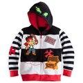 2016 Criança jaqueta menino Jake e os Piratas Do Neverland/Monstro Universidade/TOY3 menino meninos casaco Com Capuz top outwear fatos de treino