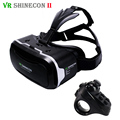 VR Shinecon 2.0 Leather 3D Virtual Reality Cardboard Glasses vrbox Headset for 4.7-6' Mobile Phone + Rechargeable Gamepad