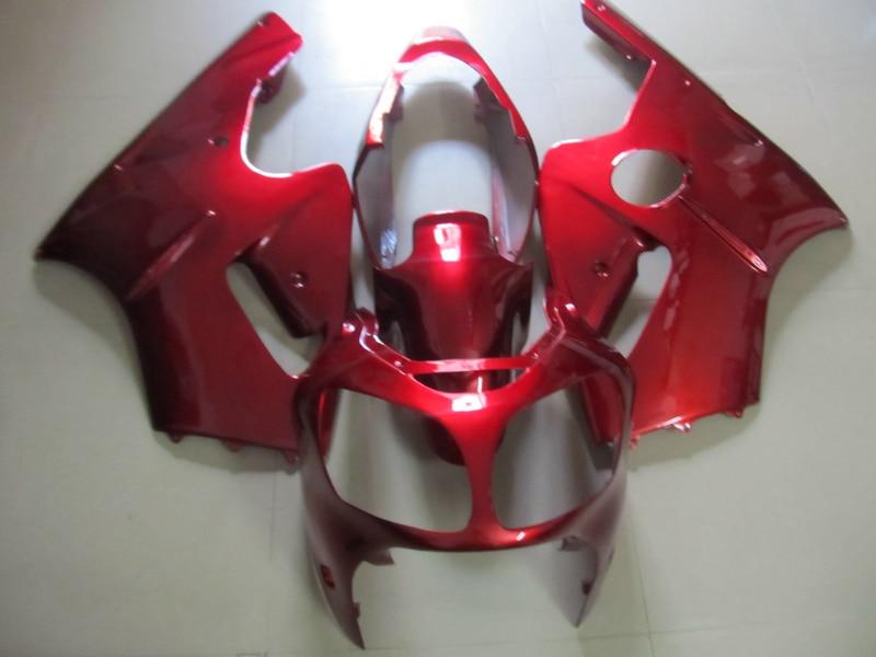Stampi ad iniezione trasporto personalizzare carenatura kit per Kawasaki ZX12R 00 01 vino rosso carenature ZX12R 2000 2001 (+ serbatoio copertina) OT24