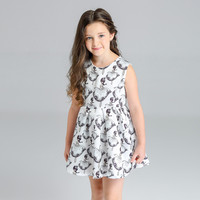 2018 Summer Baby Girls Toddlers A Line Dress Girls Kids 1pcs Dress Clothes Infant Cartoon Print