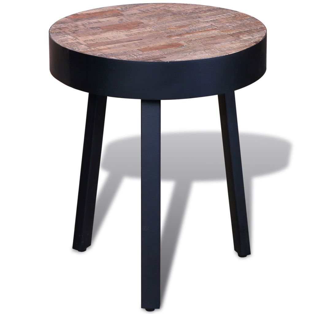 Vidaxl Side Table Round Reclaimed Teak In Sideboards From Furniture On Aliexpress Alibaba Group