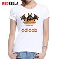 REDBELLA Ins Cool Women T Shirt Hipster Adidob Dogs Animals Punk Crazy Pattern 3D Print Cotton