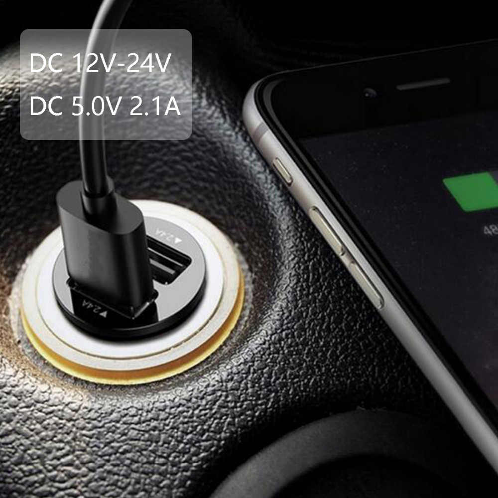 2.1A 5V Dual USB car charger 2 port Cigarette Lighter Adapter Charger USB Power Adapter For all smart phones