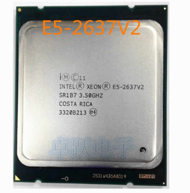 Original Intel Xeon E5-2637V2 QS Version CPU 3.50GHZ 15MB 4-core LGA2011 E5-2637 V2 processor E5 2637V2 free shipping