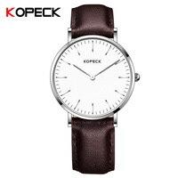 Кварцевые мужские часы с браслетом из натуральной кожи, мужские Студенческие модные ультра тонкие мужские часы с циферблатом, простые часы