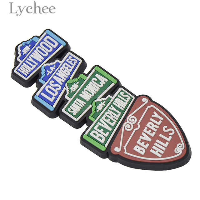 Lychee Life Hollywood Funny Rubber Fridge Magnet Creative 3D Refrigerator Magnet Tourist Souvenirs Home Decoration 4