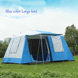 Image 5 - Hoge Kwaliteit 10 Personen Double Layer 2 Kamers 1 Hal Grote Outdoor Familie Party Camping Tent In Goede Kwaliteit Met grote Ruimte