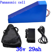 36V battery 36v 30ah electric bicycle battery 36V 29AH lithium ion battery use panasonic cell for 36V 500W 1000W motor+free bag