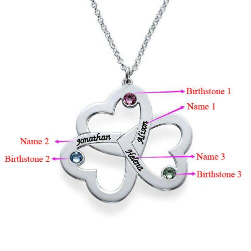 personalized mothers necklace mother il birthstone listing family stone s