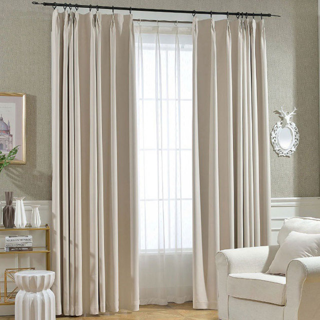 Single Panels Blackout Curtains For Bedroom Modern Home Window Shades  Polyester Solid Living Room Curtains Drapes