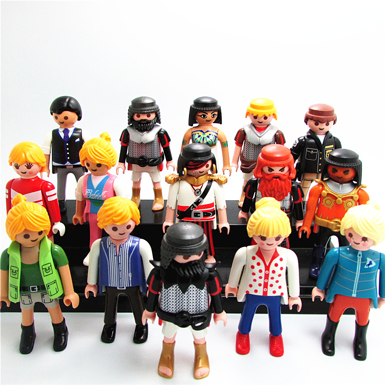 7cm Playmobil Juguetes Police Castle Figures Knights Noel Farm Girl Boy Soldiers Pirates Navidad Kids Toys Original Brinquedos