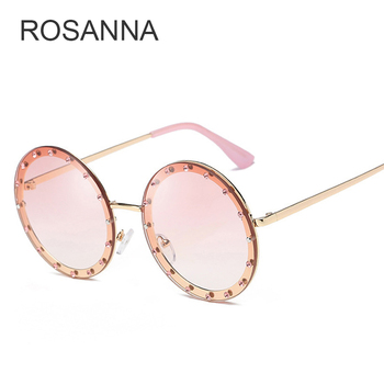 Luxury Round Crystal Decorative Sunglasses Women New 2018 Brand Designer Rhinestone Sun Glasses for Female High Quality Oculos