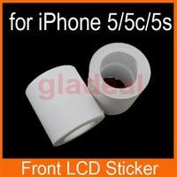 500 unids alta transparencia baja adhesivo protector delantero de cine para el iphone 5/5s/5c película protectora de cristal de la pantalla lcd
