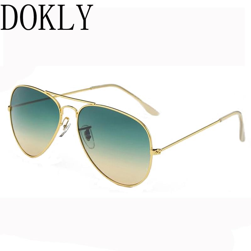 Dokly 2018 mados saldžios spalvos akiniai moterys Veidrodis Pilot akiniai nuo saulės Moterys ženklo dizaineris saulės akiniai Oculos de sol Akiniai