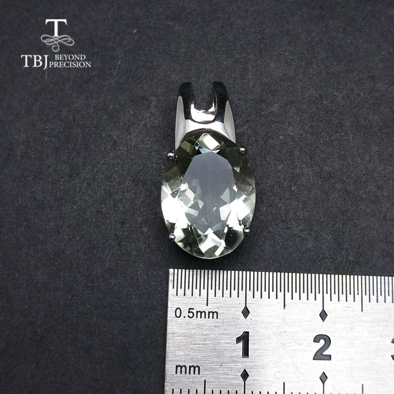 Image 3 - TBJ,simple and elegant pendant with natural green amethyst  gemstone in 925 sterling silver fine jewelry for women