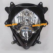 Новый Мотоцикл Фара для SUZUKI GSXR 1000 K7 2007 2008 GSX-R, Черный Цвет Передняя Двигателя Фары Освещения Фары, китай Частей