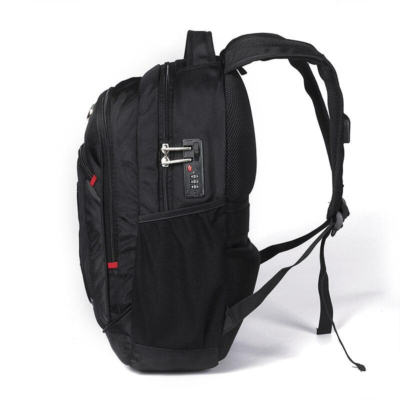 Sac à dos pour ordinateur portable suisse usb pour 17 pouces sac d'ordinateur sac à dos homme sac à dos multifonctionnel garçon sac à dos homme sac femme à l'école
