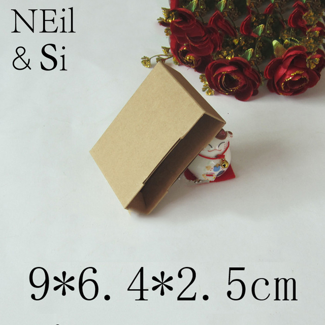 Kraft Paper Box For Handmade Soap Gift Craft Business Name Card