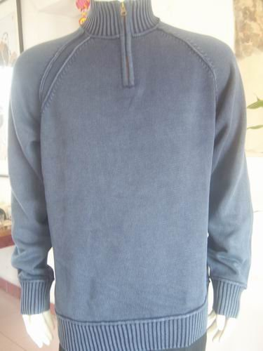 School holidays Men's Sweaters Turtlenecks 1/4 Zippered 100%Cotton Navy Blue Size L Reduce the discount 10% postage