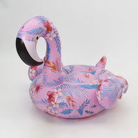 152cm Giant Flower Print Flamingo Inflatable Float For Adult Summer Party Pool Toys Ride On Air Mattress Swimming Ring Lounger