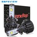 Super white LED lámpara auto V16 H4 H7 H8 H9 H11 HB3 9005 HB4 9006 40 W bombilla de Xenón 6000 K coche Faro motor 4800LM Kits