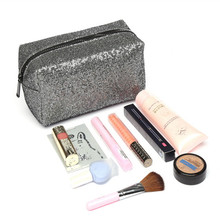 Sequins Cosmetic Bag Large Capacity Clutch Handbag Evening Clutch Envelope Bag BlingBling Makeup Bag Pouch studded trim envelope clutch