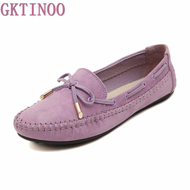 2019 Fashion Women Flats Genuine Leather Shoes Casual Breathable Women Loafers Moccasins Slip On Woman Shoes Plus Size 35-41