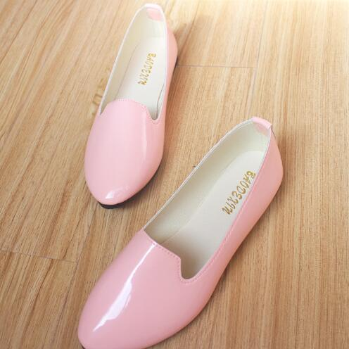 2017 New Faux Ballet Flat Shoes Women Flat Shoes Lady Loafers Soild Slip On Shoes Ballerina Flats Female Chaussure Femme size 42 2017 spring summer new women casual pointed toe loafers flats ballet ballerina flat shoes plus size 34 43