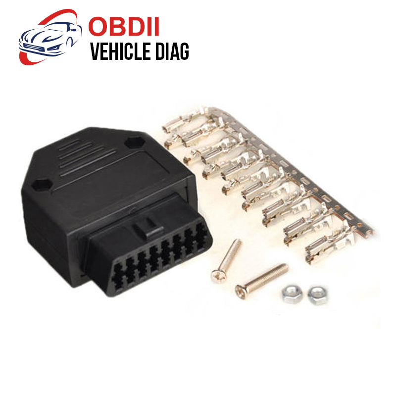 Obd2 16pin Female Connector Obdii J1962f Shell Adapter Obd Connector Plug+shell+terminal+screw Diagnostic Tool