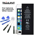 ThinkANT For Iphone 4S Battery Original Real Capacity 1430mAh For Apple Iphone4S Battery With Machine Tools Kit Mobile Battery