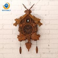 Hanging Cuckoo Clock Antique Handcraft Pendulum Clock for Living Room Office Home Decoration 20inch Vintage Bird Wall Clock